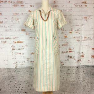 Sear's Zip & Dash Dress in Blue & Cream stripes